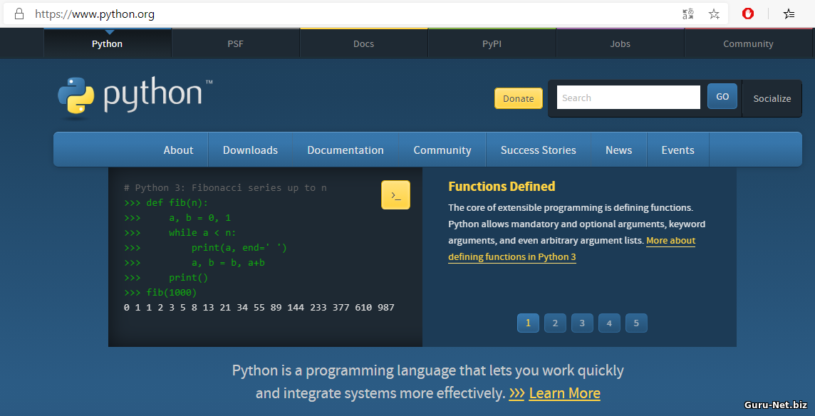 Сайт Python